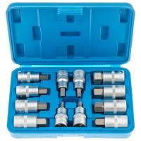 "Набор ключей HEX коротких с насадками 1/2"" (L=55 мм) -12 единиц SATRA S-SH1212"