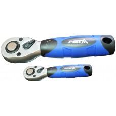 Трещотка с резиновой ручкой 3/8 (36зуб) 140 мм ASTA KH2038 3/8