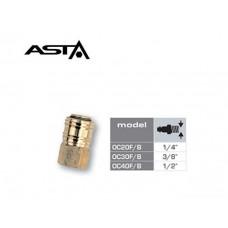 Быстросъем с внутр.резбой 1/2 (латунь) ASTA OC40F/B
