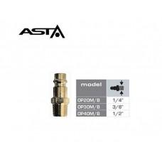 Быстросъём с наружной резьбой 1/4 (латунь) ASTA OP20M/B