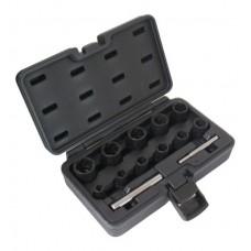 Набор ударных спец головок Cr-Mo для сорваных гаек 8-21mm ASTA A-0950